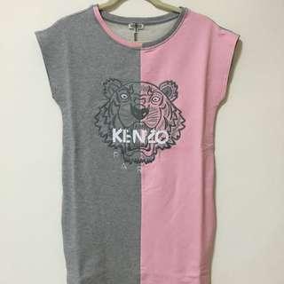Kenzo 正品春夏洋裝 粉/灰