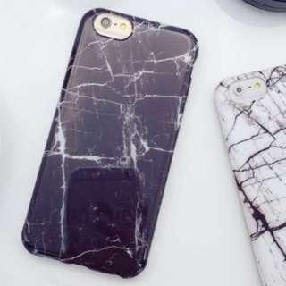 (全新)超美裂紋黑白大理石紋手機殼