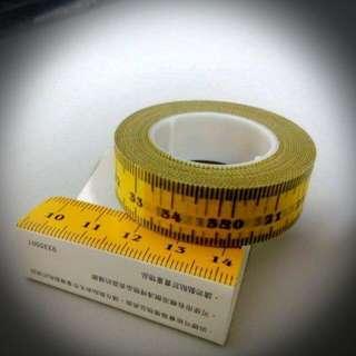 知音  黃色公分紙膠帶
