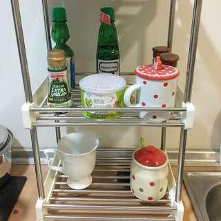 ✨《全新》不鏽鋼廚房收納架/置物架