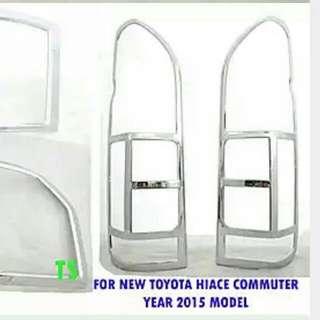 Toyota Hiace (2015-2018) Chrome Tail Lamp Cover SGL