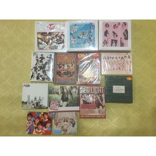 少女時代,twice、f(x)、Red Velvet 專輯
