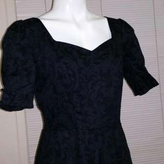 Black Vintage Laura Ashley dress