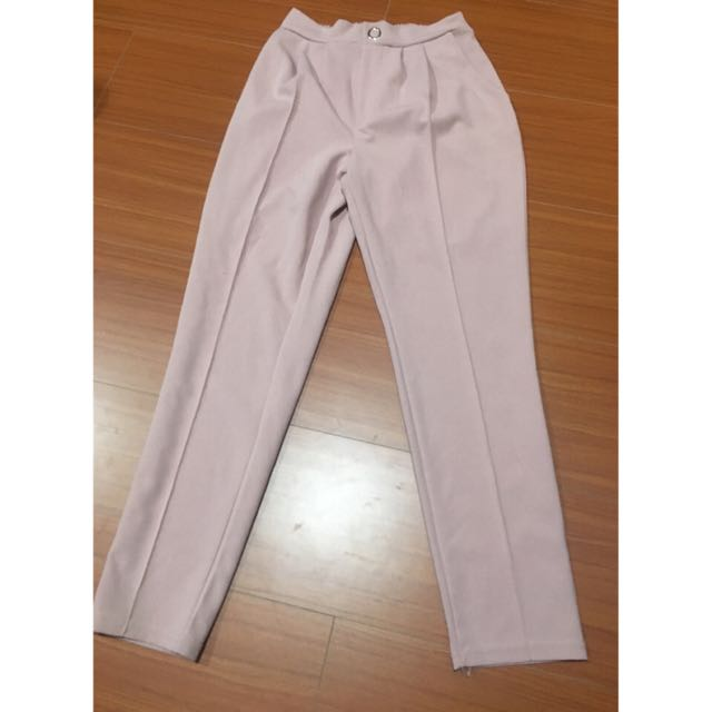 粉色帶點藕色長褲