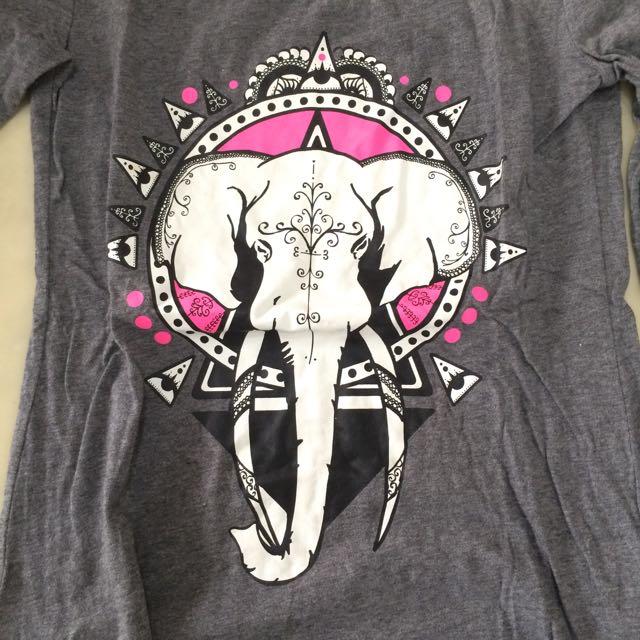 大象長袖薄上衣