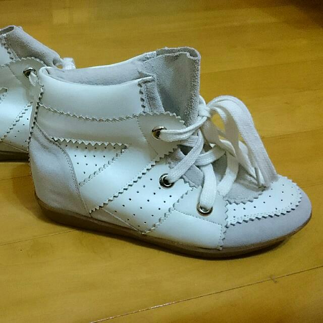 韓版內增高麂皮休閒鞋
