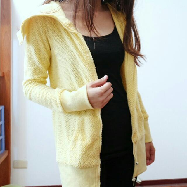 黃色長板外套