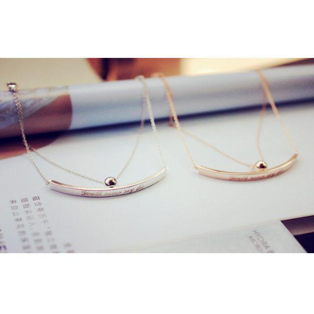 【現貨+預購】姊妹對鍊~韓國精品首飾雙層氣質英文字母圓球多層手鏈