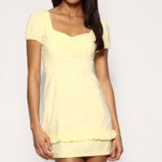 ASOS Brand New with tag yellow spot dress