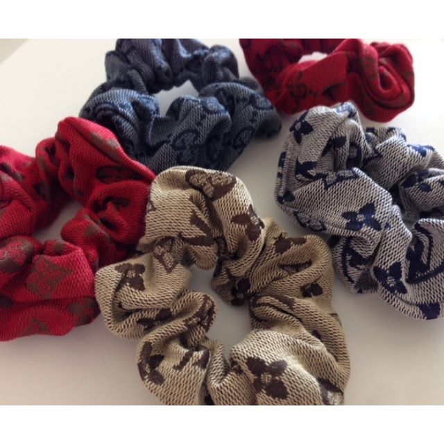 Brand New LV and Gucci Inspired Hair Scrunchies