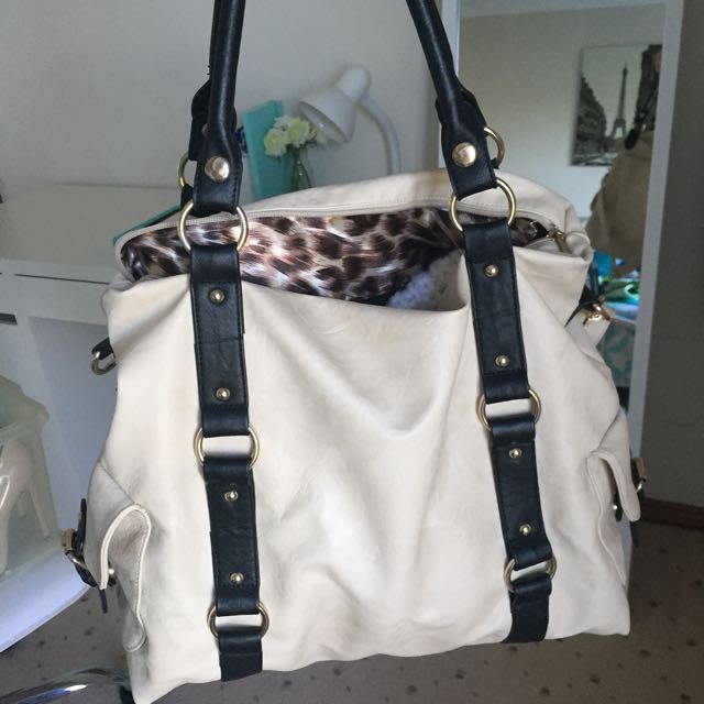 Colette Black And White Large Handbag