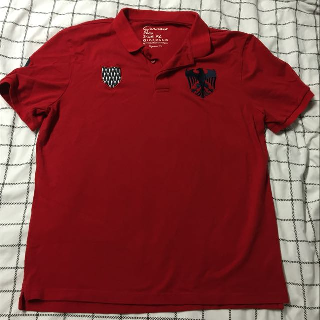 Giordano Red Polo
