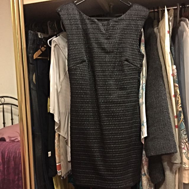 Hunt No More Black Faux Leather Dress