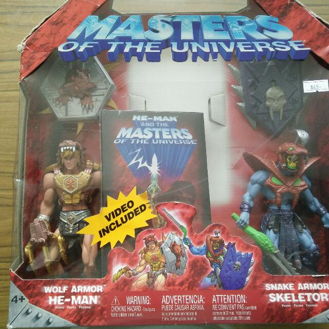 Masters Of The Universe 200X Wolf Armour He Man Vs Snake Armour Skeletor  Box Set