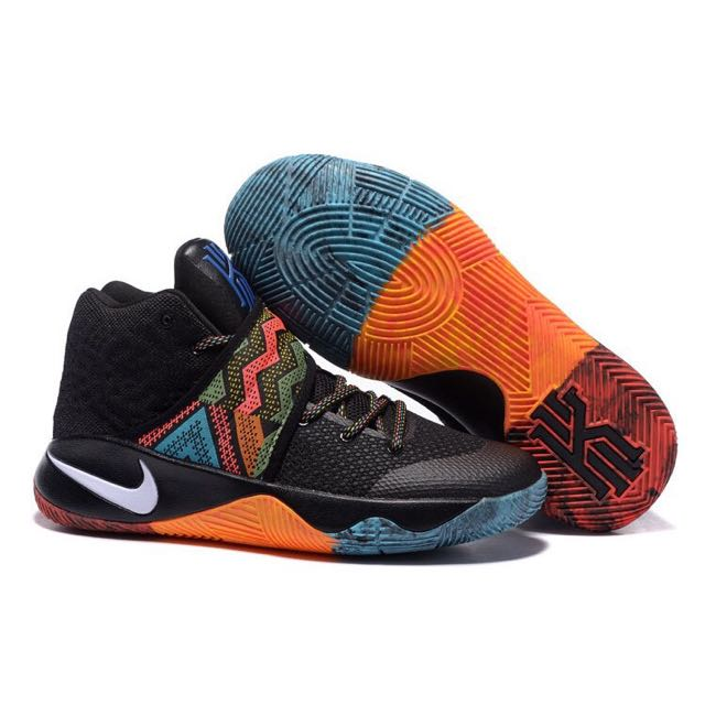 Nike Kyrie-2 EP BHM 828376-099 黑人月 厄文Irving 圖騰原住民 黑藍橘彩色