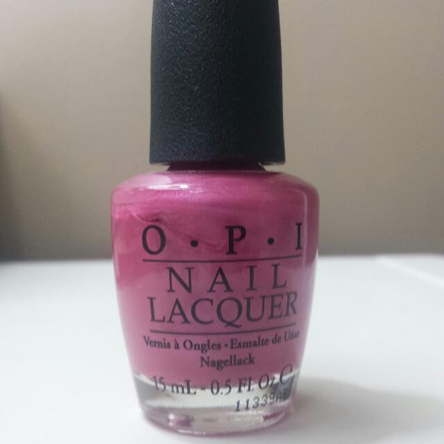 OPI Nail Lacquer in Not So Bora-Bora-ing Pink