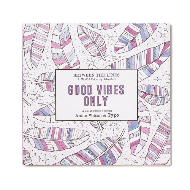 Typo Between The Lines Colouring Book Good Vibes Only Womens
