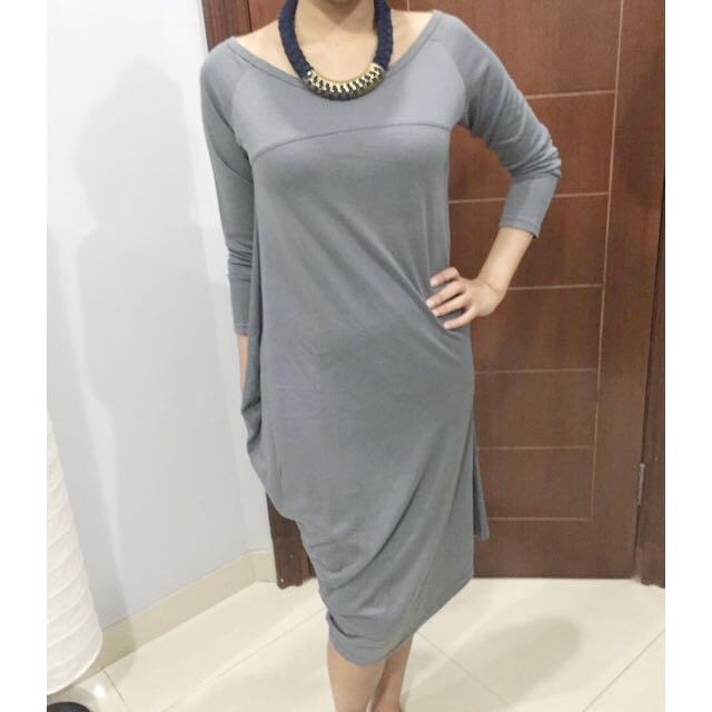 (X)SML Grey Asymmetric Dress
