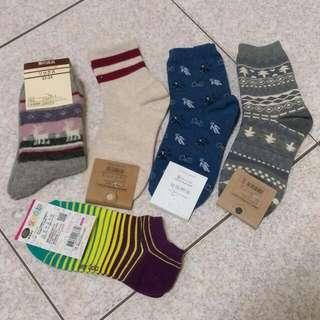 【全新】五雙襪子