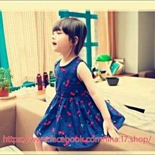 東大門韓系 櫻桃造型 公主背心洋裝套裝 親子裝