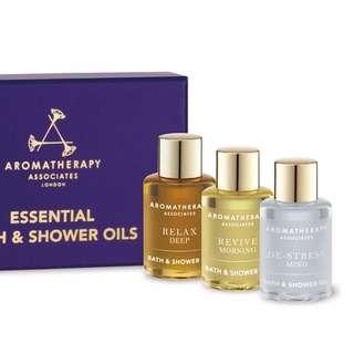 英國芳療品牌 AA 舒緩 舒爽 明煥 沐浴油 旅行套裝 Aromatherapy Associates 7.5ml*3