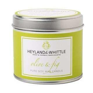 H&W 英倫薇朵 無花果橄欖香氛燭罐 130g Heyland Whittle 百貨專櫃購入
