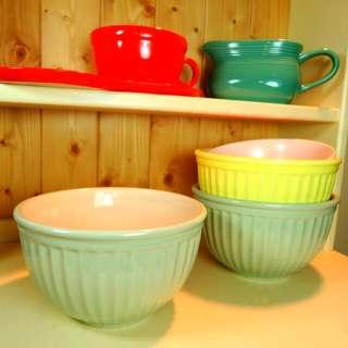 免運費 - 美國鄉村陶瓷湯碗/沙拉碗/水果碗  Zakka. IKEA