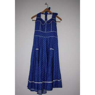 Retro Style Long Halter Dress