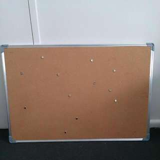 Large Cork Bulletin Board With Dozen Starry Pins