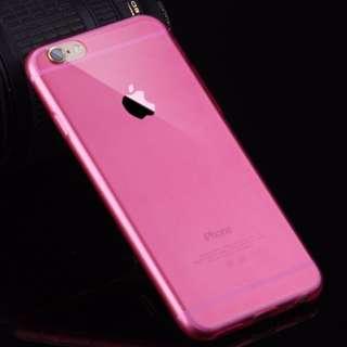 iphone6 手機殼超薄透明矽膠TPU蘋果軟殼保護套外殼 - 透明粉