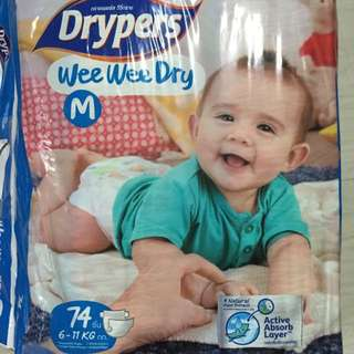 Drypers Wee Wee Dry M Size (Tape) (reserved)