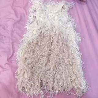 米白色 流蘇 外套