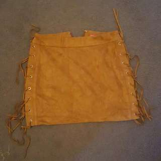 Suede Size 8 Strechy Skirt