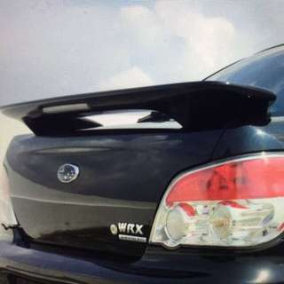 used original subaru wrx sti muffler and spoiler