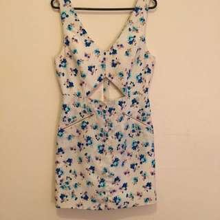 Floral Cut Out Dress. Size M