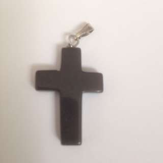 New Onyx Cross Pendant . 5 Available .