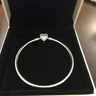全新特價現貨 Pandora 正品 愛心 手環 鑽