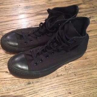 Black Converse Hi-Tops Unisex