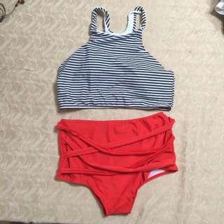 Womens High Waisted Bikini Set
