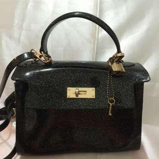 Brand New Black Shining Sling Bag