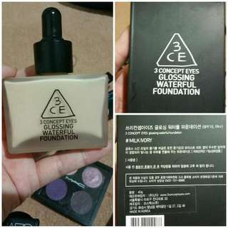 3CE Glossing Waterful Foundation - In box.