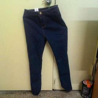 深藍 牛仔 長褲