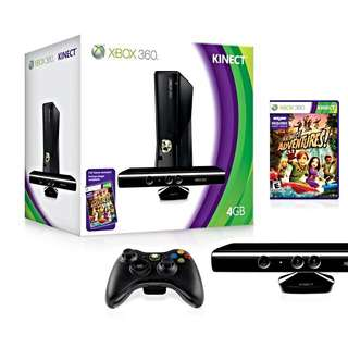 XBox 360 Bundle + Kinect. Comes with 3 Controllers & 15 Games Latest Is FIFA 16