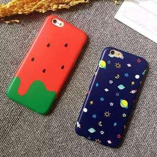 土星 西瓜 夏天 iPhone 6 s plus 手機殼 保護套 軟殼