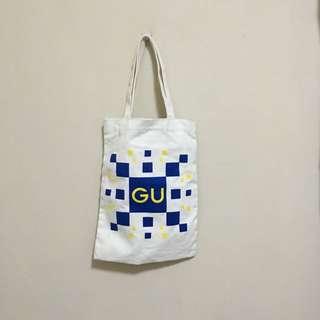 GU 帆布手提袋 帆布袋