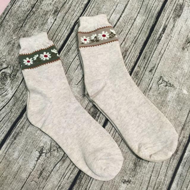 小花一朵朵造形長襪#好秋服飾