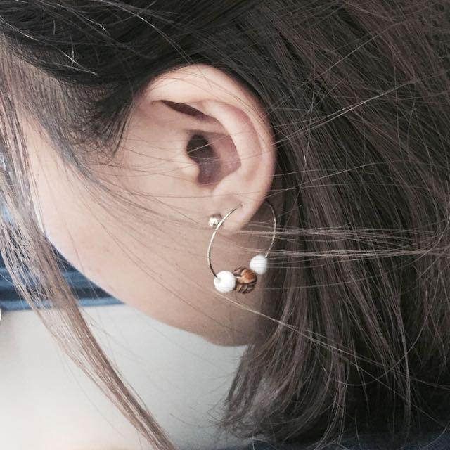 珠珠圈圈耳環