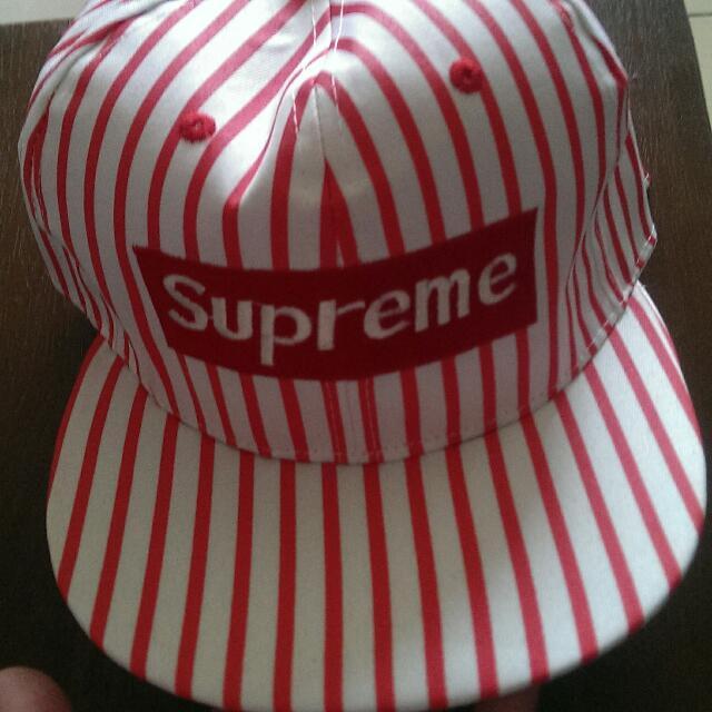 便宜賣 全新 紅白條紋 帽子