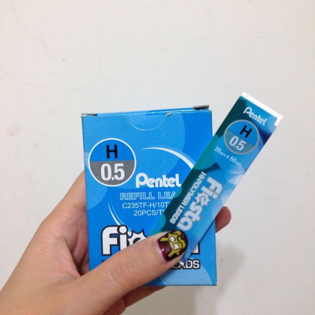 全新 Pentel飛龍 H 鉛筆芯 10小盒入