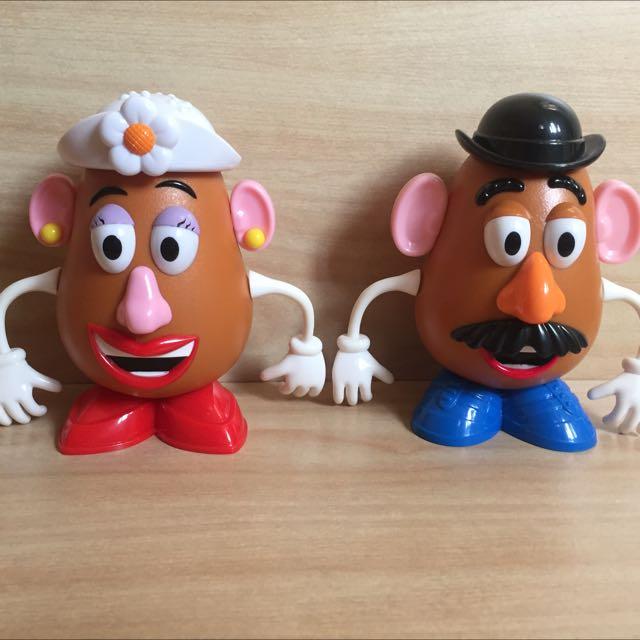 玩具總動員 Toy Story 蛋頭先生 蛋頭太太 迪士尼糖果罐